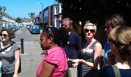 During our walkabout in Willesden Green High Street