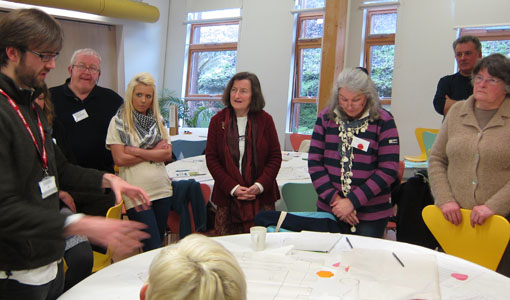 Participants at Eden Planning Camp earlier this year getting to grips with Neighbourhood Planning during our 'Design by Consensus' workshop.