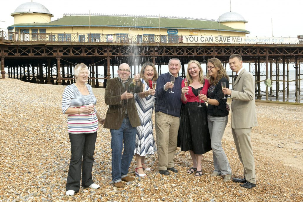 Hastings Pier celebrate funding success