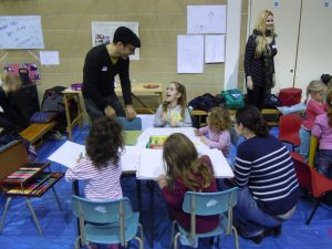Children draw and model their dream play spaces at Mega Soft Play engagement day