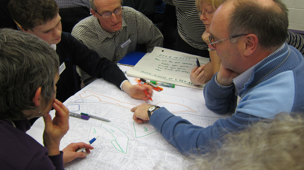 Participants explored the key assets of the town through a mapping exercise.