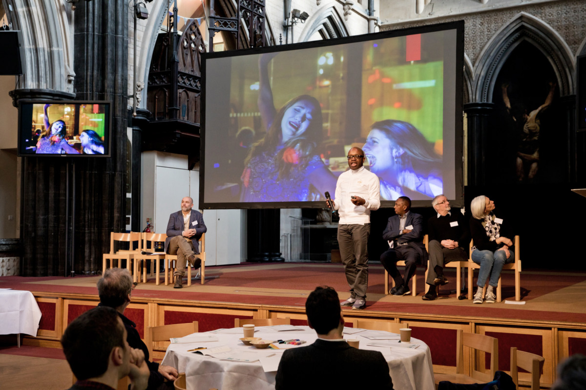 Revered Geoff Eze of All Saint's Church Hanley speaking at EDP Live in February 2020