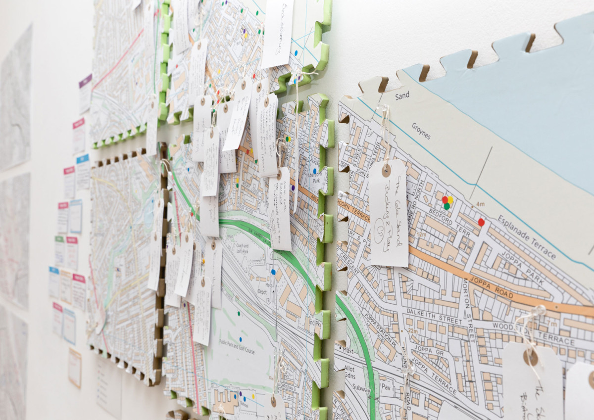 Map of Portobello, Edinburgh, tagged with projects and stories