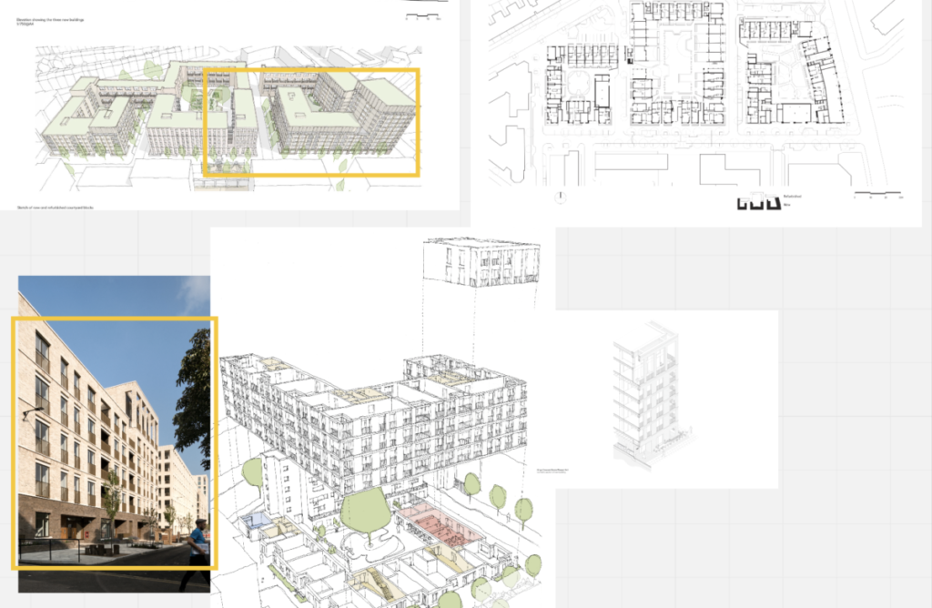 Some of the architectural drawings the participants practiced reading and assessing.